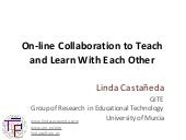 On Line Collaboration To Teach And ...