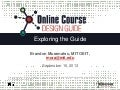 Exploring the Online Course Design Guide