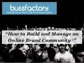 Online Brand Community Development