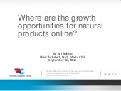 Online growth opportunities for natural products