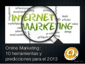 Online marketing  10 herramientas y...