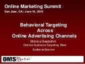 Behavioral Targeting Across Online ...