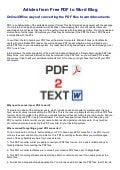 Online offline ways of converting the pdf files to word documents   free pdf to word blog