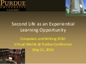 Second Life as an Experiential Lear...
