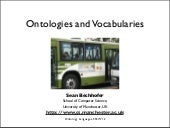 Ontologies and Vocabularies