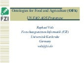 Ontologies for Food and Agriculture...