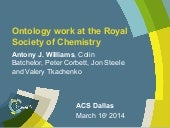 Ontology work at the Royal Society of Chemistry