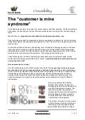 "ON USABILITY: ""The customer is mine syndrome"""