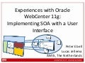 Experiences with Oracle WebCenter 11g: Implementing SOA with a User Interface