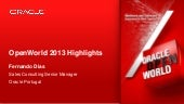 OOW 2013 Highlights