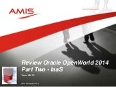 Oracle OpenWorld 2014 Review Part two - IaaS