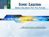 Ionic Liquids : Green solvents for ...