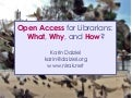 Open Access for Librarians