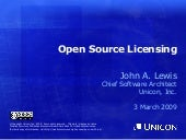 Open Source Licensing