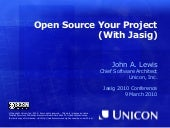 Open Source Your Project (With Jasig)