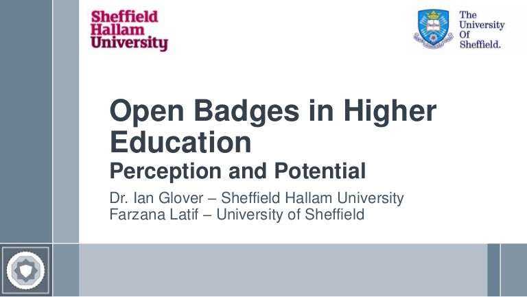 Open Badges in Higher Education - Perception and Potential