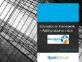 Innovation in the network – Adding value to voice OpenCloud Bouygues