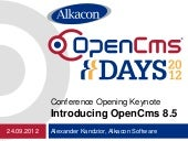 OpenCms Days 2012 - Conference Open...