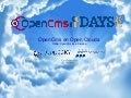 OpenCms Days 2012 - OpenCms on open clouds