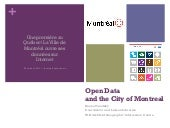 Open data and the city of Montreal