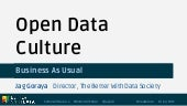 Open Data Culture - Business As Usual