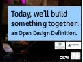 Open Design Definition @ Fab* @ Future Everything