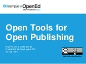 Open Tools for Open Publishing