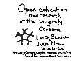 Open education and research at the university of canberra