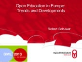 Open education in Europe, trends an...