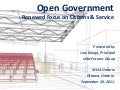 Open Gov - Renewed citizen & service focus-ottawa