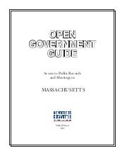 Open Government Guide (Massachusetts)