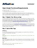 Facebook Open Graph Tech Requirements