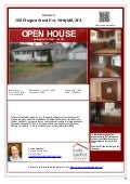 Open House 168 Prospect St Ext, Westfield, MA 01085 Saturday May 31