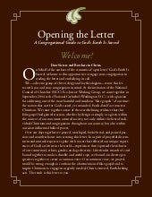 Opening the Letter: A Congregation ...