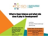 What is Open Science and what role does it play in Development?