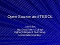 Open Source And TESOL