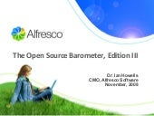 Open Source Barometer - by Alfresco...