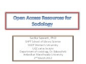 Open source resources for sociology
