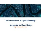 An Introduction to OpenStreetMap