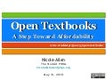 Open Textbooks - A Step Toward Affordability