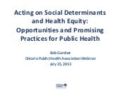 Acting on Social Determinants and H...