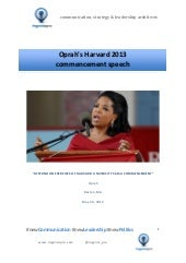 Oprah's Harvard 2013 commecement