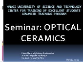 Optical ceramics