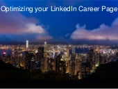 Optimising your linked in career page 04 11-2015