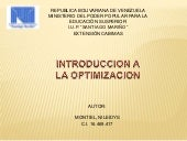 Diapositivas de Optimizacion
