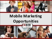 Mobile Marketing Opportunities