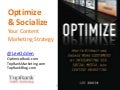 Webinar: Optimized Content Marketing Strategy