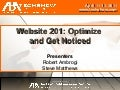 Website 201: Optimize and Get Noticed