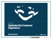 Optimize the Online Customer Experience