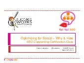 Optimizing for Social - Why & How